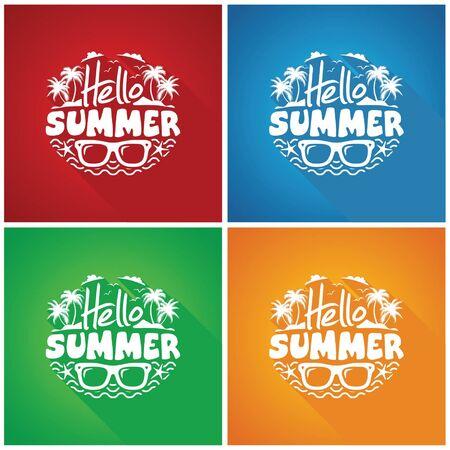 hello summer vector Vektorové ilustrace
