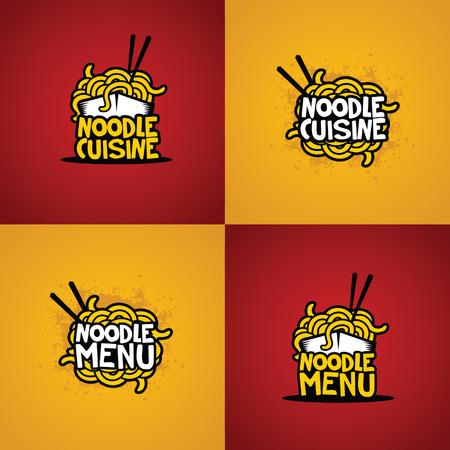 noodle vector Vettoriali