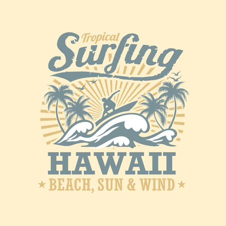 surfing beach: surfing vector