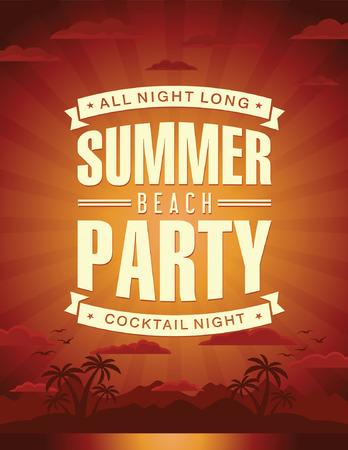 fiestas discoteca: partido vector verano