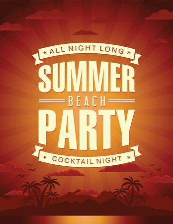 beach party: summer party vector