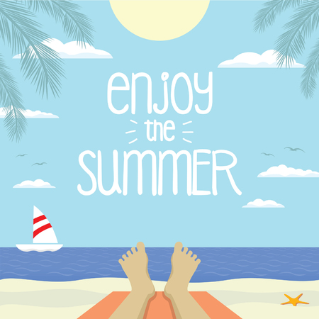 hollidays: enjoy the summer Illustration