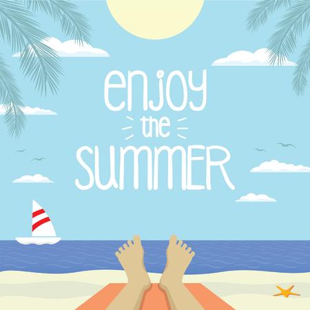 hollidays: enjoy the summer Illustration
