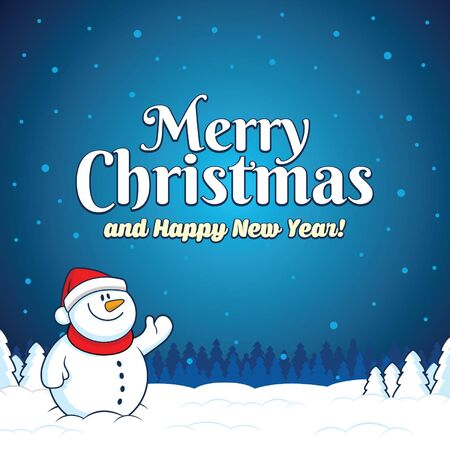 snow man christmas Illustration