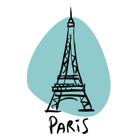 tour eiffel: Paris the capital of France Eiffel tower. A stylized image of the city tourism travel places Illustration