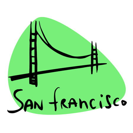 ca: San Francisco CA USA. A stylized image of the city tourism travel places