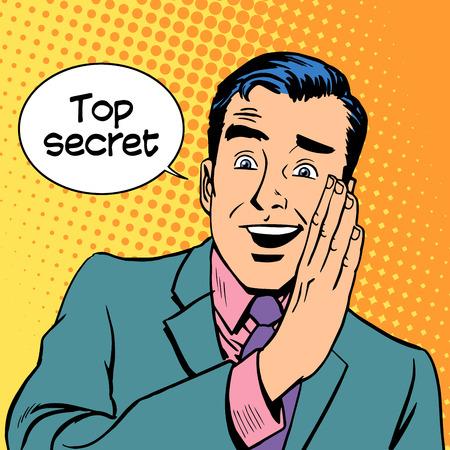 Top secret security business retro style pop art