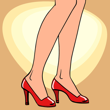 Female feet in shoes. Shoes fashion and beauty. Feet people