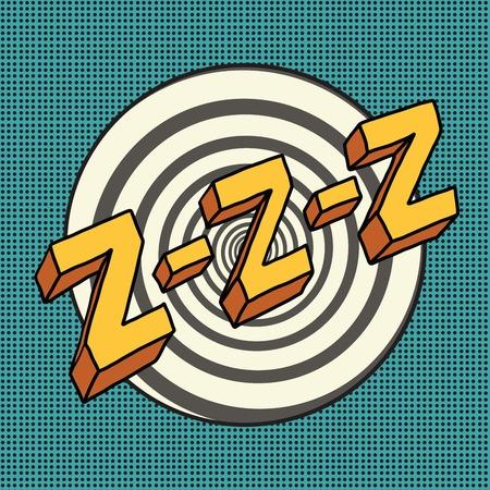 Zzz sound sleep and zumm, pop art comic illustration Vector Illustration