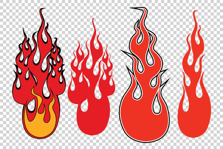 simulate: Flame fire background to simulate transparency, pop art retro vector illustration