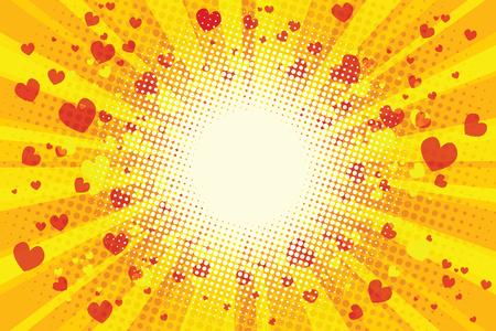 st valentin: Valentine heart background. Pop art retro illustration
