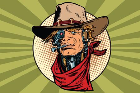 bandit: wild West bandit robot steampunk Illustration