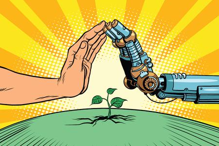 人間とロボットの自然を守る