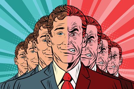 群衆の中の悪い良い人。ビンテージ コミック漫画イラスト ポップ アート レトロなベクトル  イラスト・ベクター素材