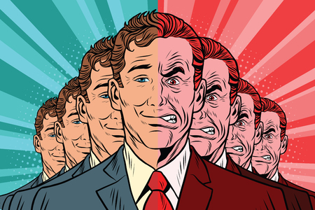 Menigte slechte goede mensen. Vintage stripverhalen cartoons illustratie pop art retro vector Vector Illustratie