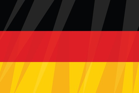German state flag three colors black red yellow. Vintage comics cartoons illustration pop art retro vector