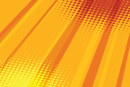 vector raster background: Red yellow halftone raster effect pop art background. Comic book illustration pop art retro color vector