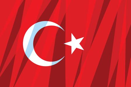 Turkey flag. State symbol. Comic cartoon vintage pop art retro vector illustration Illusztráció