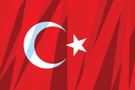 Turkije vlag. Staats symbool. Stripverhaal vintage pop art retro vector illustratie Stockfoto