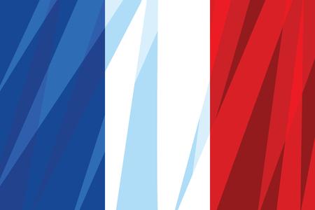 The national flag of France. Comic cartoon vintage pop art retro vector illustration Stock Photo