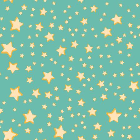 Stars seamless pattern. Comic book cartoon pop art retro vector illustration drawing
