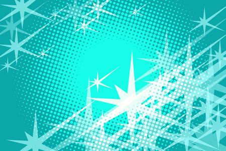 緑の背景の星です。コミック漫画 pop アート レトロなベクトル イラスト ドローイング