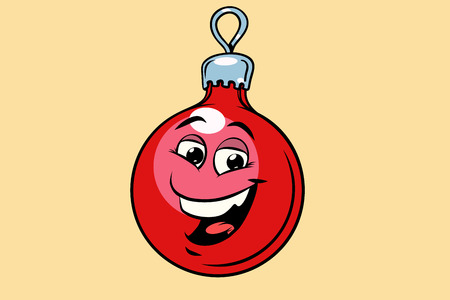 Christmas ball decoration cute smiley face character