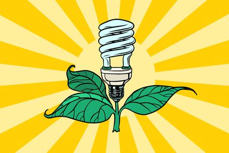 Grüne Lampe Umwelt und alternative Energie Standard-Bild - 89435805