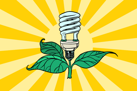 green lamp environment and alternative energy Ilustrace
