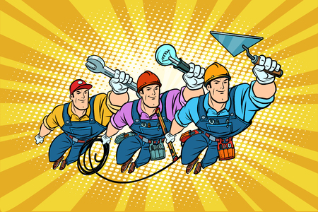 Set electrician Builder and repairer professionals