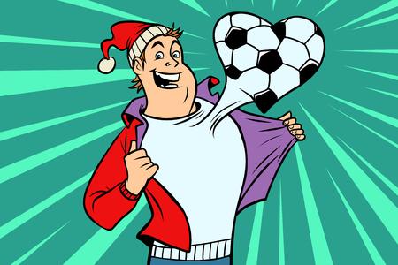Sportfan houdt van voetbal Stock Illustratie