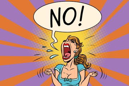 Keine wütende schreiende Frau Vektorgrafik