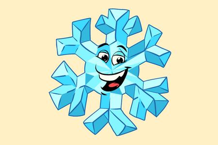 sneeuwvlok schattige smiley gezicht karakter