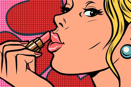 Beauty and cosmetics Comic caricature vector pop art retro illustration drawing Illustration