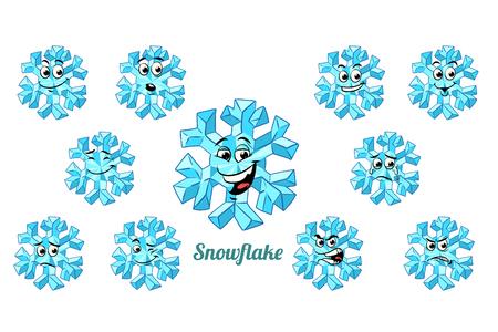emotions emoticons set isolated on white background. Comic book cartoon pop art illustration retro vector