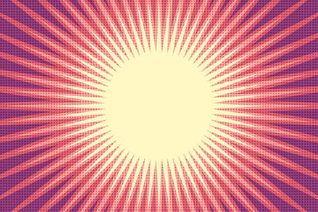 red sun pop art background 일러스트