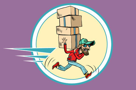 courier runs delivery