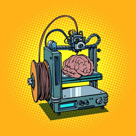 brain biotechnology medicine printing human organs 3D printer Ilustração