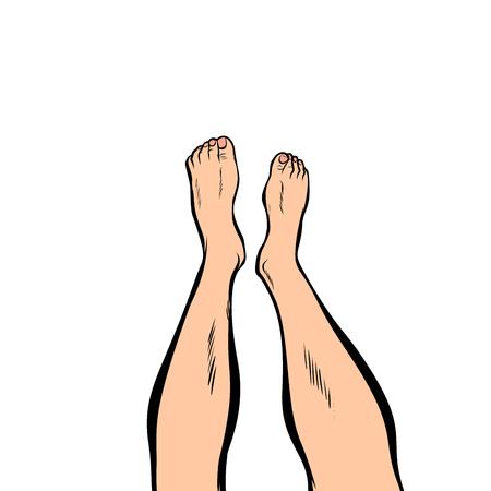 menselijke voeten geïsoleerd op een witte achtergrond