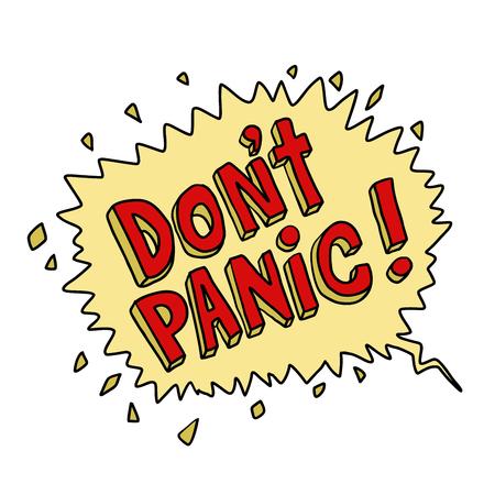 漫画本ポップアートバブルをパニックにしないでください  イラスト・ベクター素材
