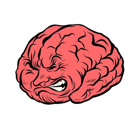 두뇌 캐릭터의 통증 일러스트