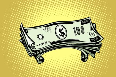 dinero billetes de cien dólares