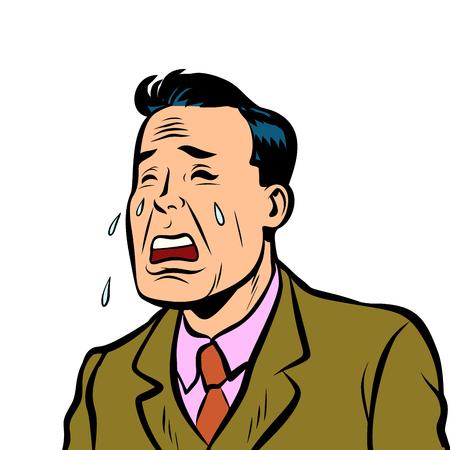 Funny man crying Illustration