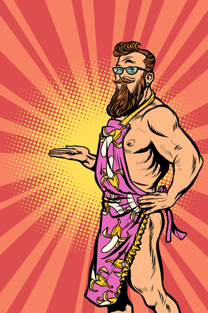 Man in an apron illustration
