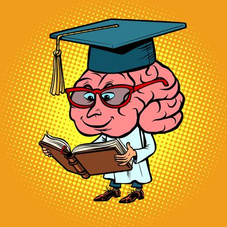 Character brain University Professor Ilustracja