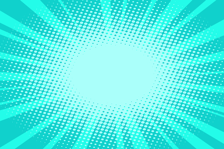 pop art turquoise background Illustration
