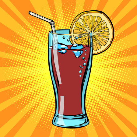 Cola drink with lemon Illustration