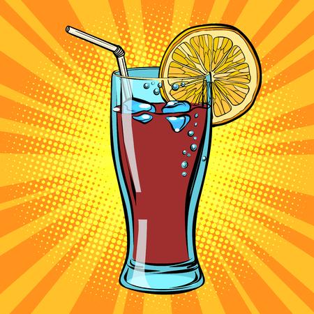 Cola drink with lemon Illustration
