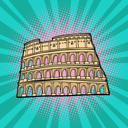 Coliseum. Rome Italy. Tourism and travel Stock Vector - 108231163