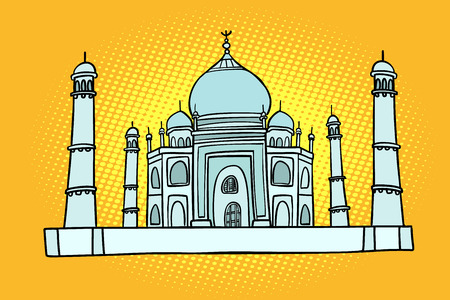 Taj Mahal. India Asia. Travel and tourism